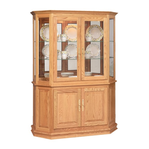 Angled Double Door Cabinet Curio