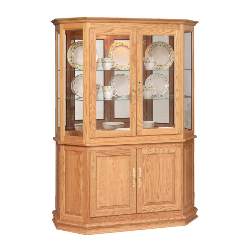 Angled Double Door Picture Frame Curio Country Lane Furniture