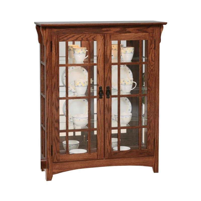 Small Mission Double Door Curio Country Lane Furniture