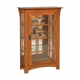Small Mission Single Door Curio