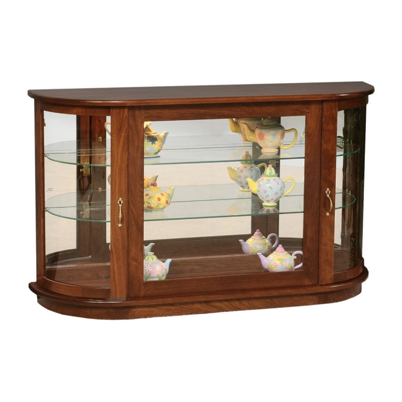 Large Console Curio With Rounded Sides Country Lane