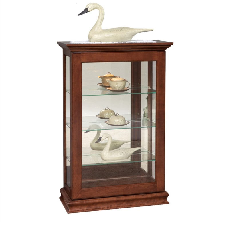 petite small sliding door picture frame curio country