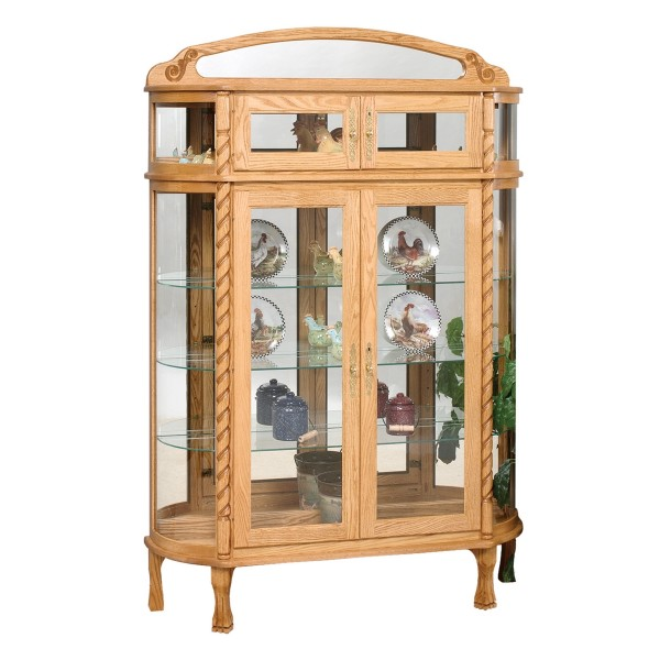 Double Door Bonnet Top Curio