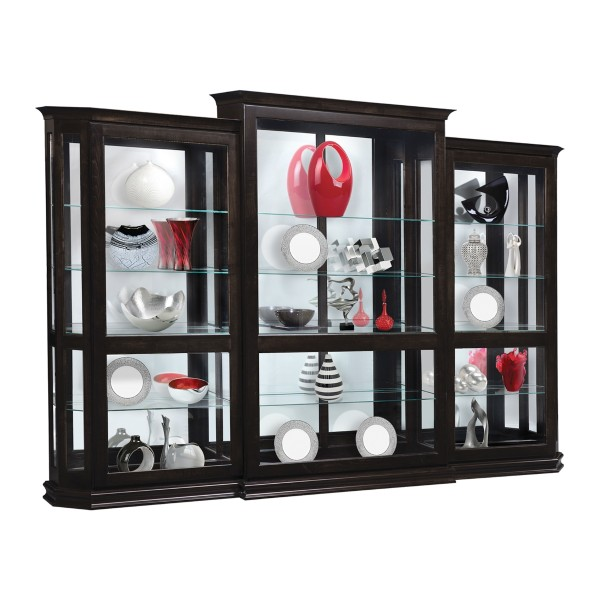 Deluxe Sliding Door Three Piece Curio