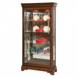 Louis Philippe Large Sliding Door Curio