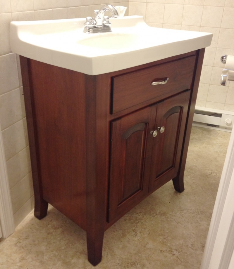 Custom Maple Bathroom Vanity Country