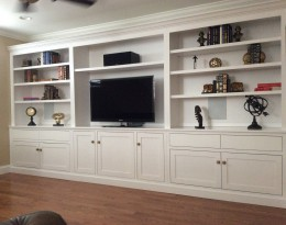 Custom Built-In Maple Wall Unit