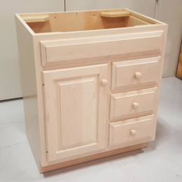 Custom Maple Bathroom Vanity Cabinet