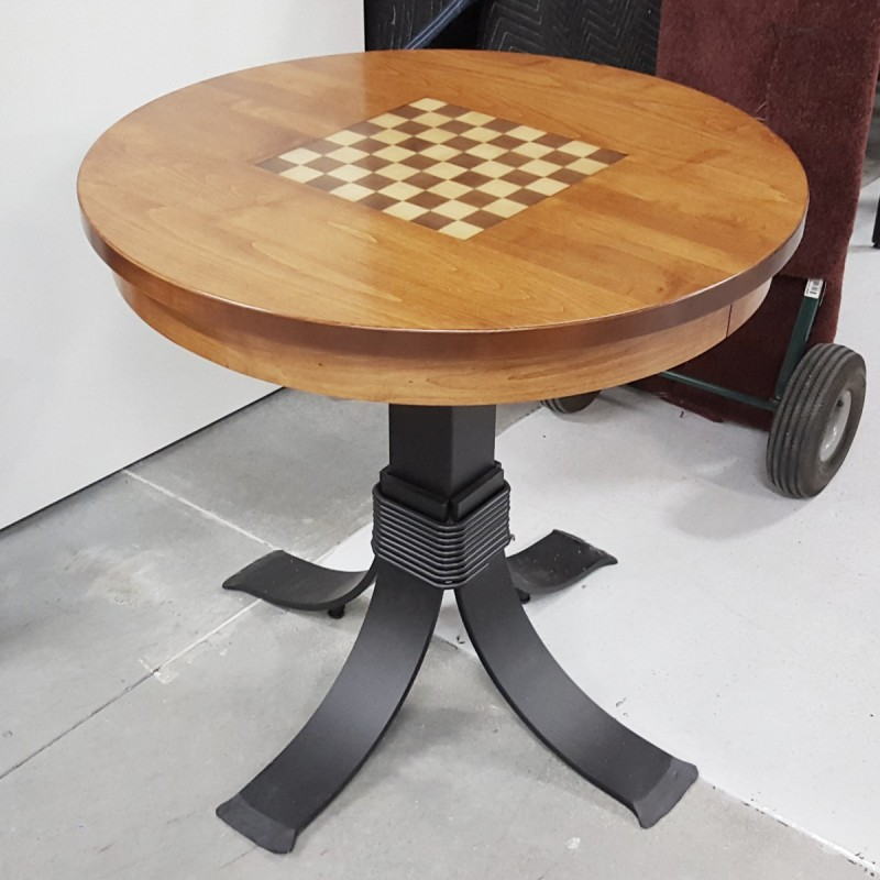 Custom Chess Board Table Handcrafted Game Table Solid