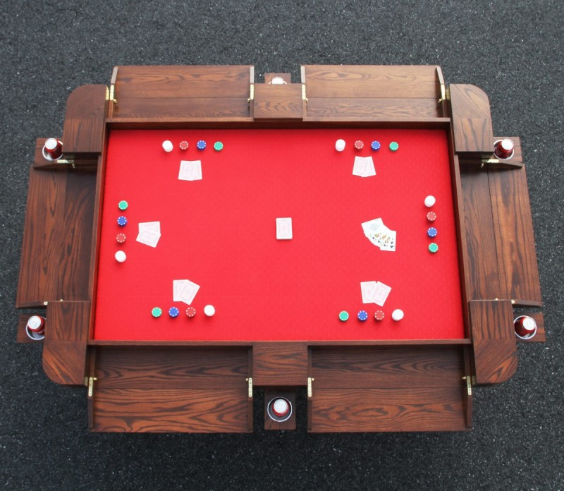 Custom Oak Game Table Custom Poker Table Custom