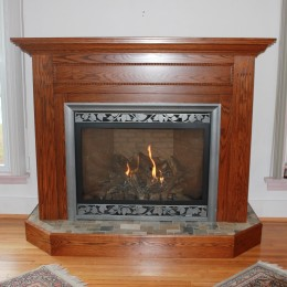 Custom Oak Fireplace Mantel