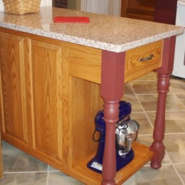 Custom Oak Kitchen Island
