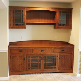 Custom QSWO Wall Unit
