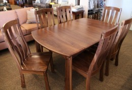 Custom Walnut Dining Set