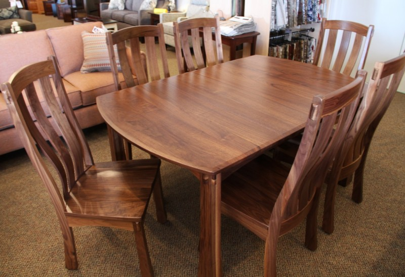 Custom Walnut Dining Set | Walnut Dining Table | PA Amish ...