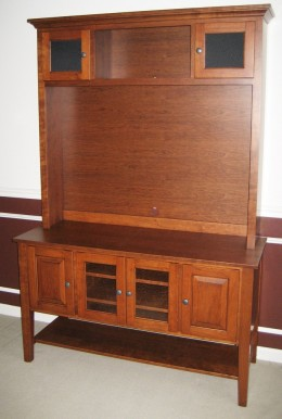 Custom Cherry Entertainment Center