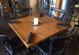 Custom Rustic Cherry Restaurant Tables