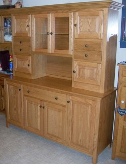 Custom Oak Hoosier Cabinet