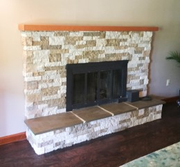 Custom Cherry Mantel Shelf