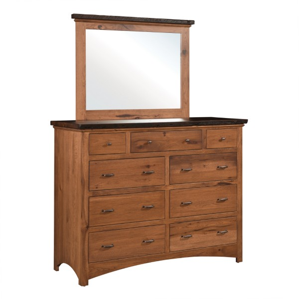 Barnwood Dresser & Mirror