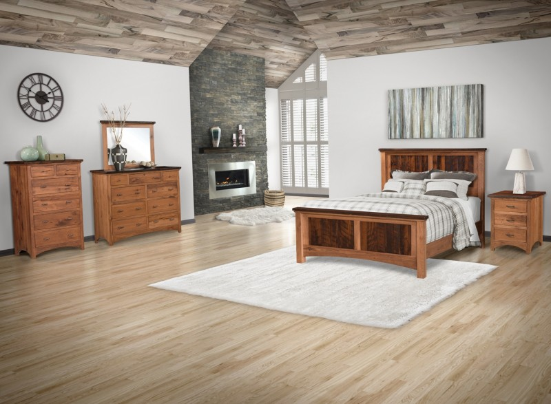Barnwood Bedroom Set | Amish Barnwood Bedroom Set - Country Lane ...