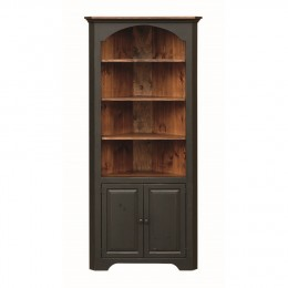 Pine Large Colonial Corner Cupboard