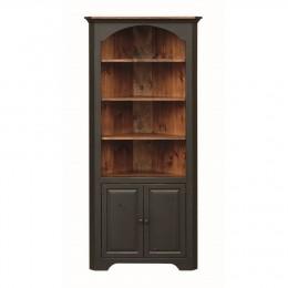 Pine Large Colonial Corner Cupboard