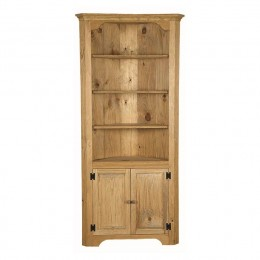 Pine Large Corner Cupboard