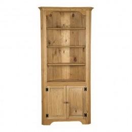 Pine Large Corner Cupboard