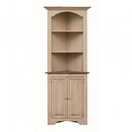 Pine Small Colonial Corner Cupboard