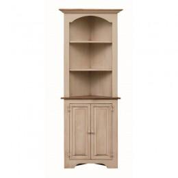 Pine Small Colonial Corner Cupboard
