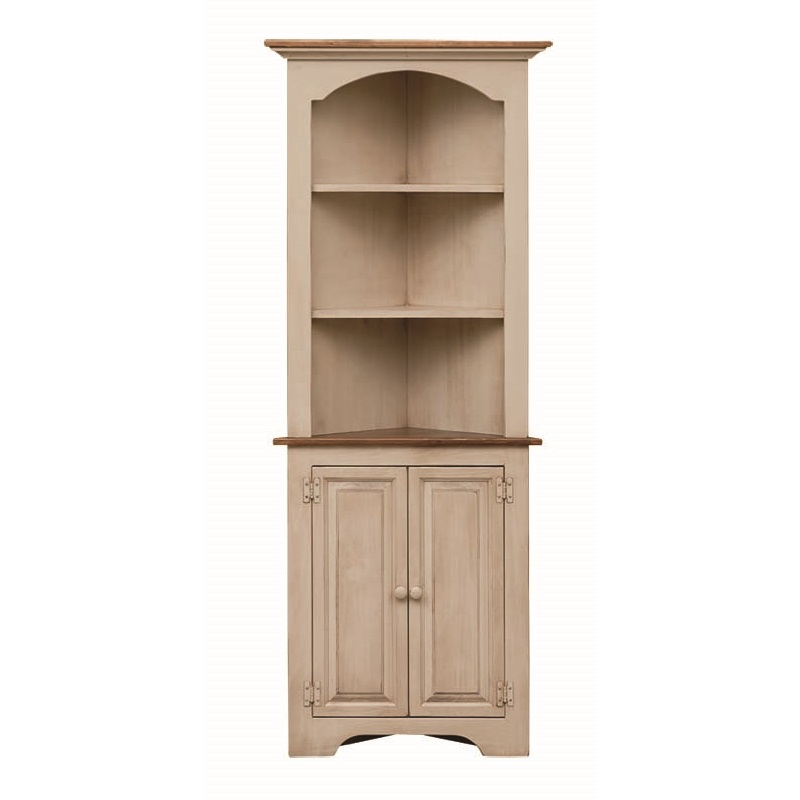 pine small colonial corner cupboard amish pine small