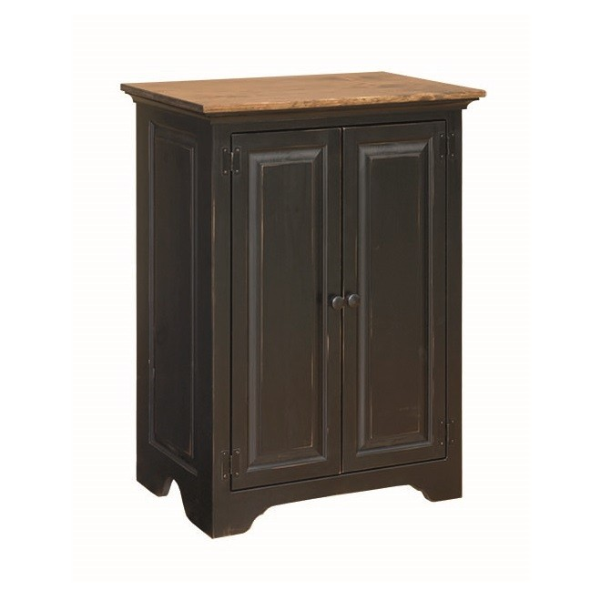 Pine Stereo Cabinet With Glass Doors - Country Lane Furniture