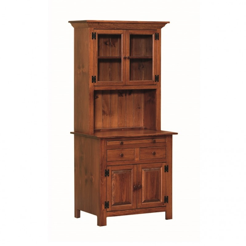 Pine Small Hoosier Cabinet   Amish Pine Small Hoosier Cabinet ...