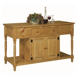Pine 4 Door Kitchen Island