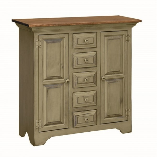 Pine Large Sewing Cabinet