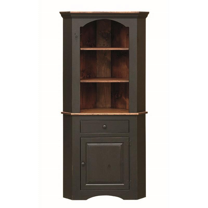 Pine Corner Cupboard Amish Pine Corner Cupboard