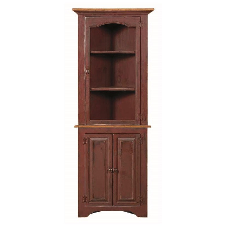 Pine Small Corner Cupboard Amish Pine Small Corner