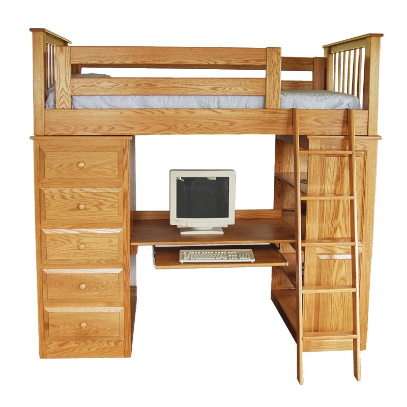 loft bedroom sets child s loft bed amish made loft bed country 12150