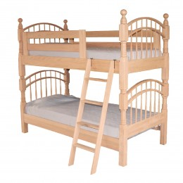 Double Bow Twin Over Twin Bunk Bed