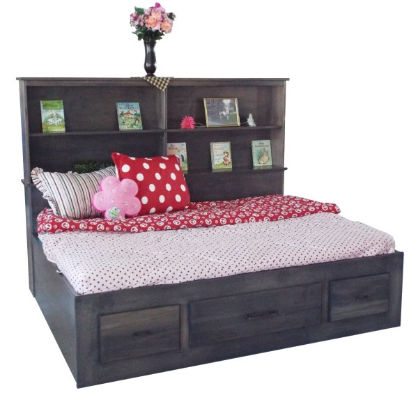 Child's Bookcase Platform Bed