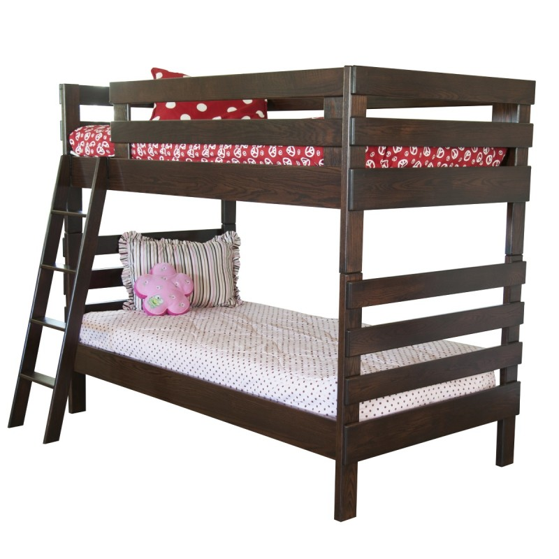 Child's Twin Over Twin Bunk Bed | Solid Wood Bunk Bed ...