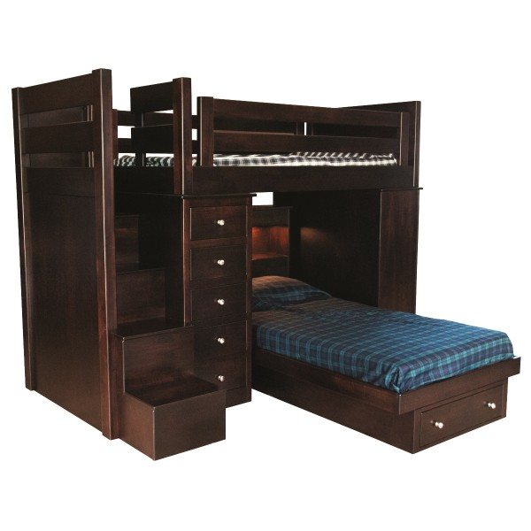 Loft Bed with Step Unit