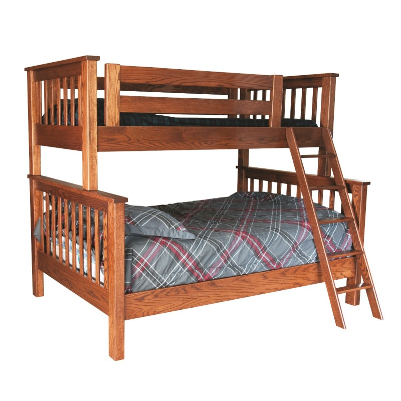 Solid Oak Bunk Beds Twin Over Full