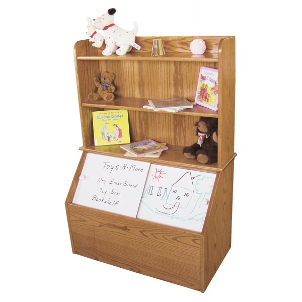 Wooden Toy Plans Catalog : Toy box with bookshelf amish made country lane furniture