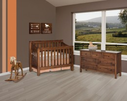 Mission Slat Crib Set