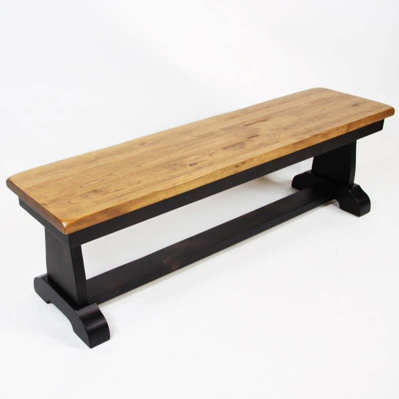 Rochester Bench Cherry Dining Bench Amish Dining Bench