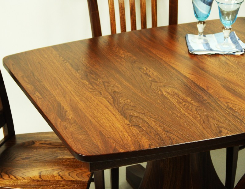 Sheridan Table Elm Wood Table Amish Made Table