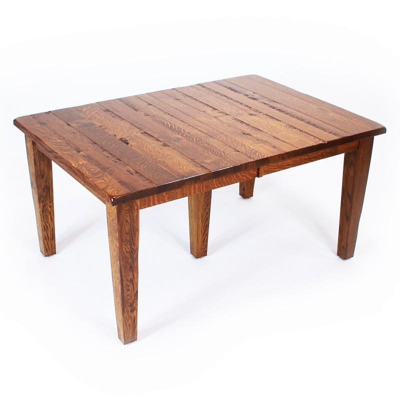 Shaker Leg Table Rustic QSWO Dining Table