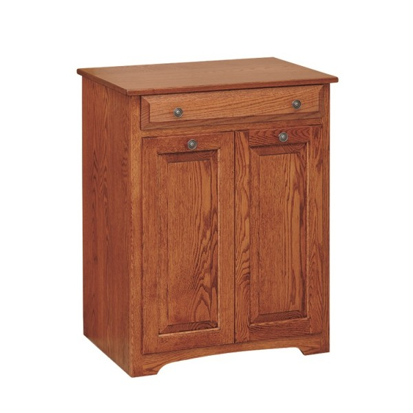 Double Trash Bin With Drawer
